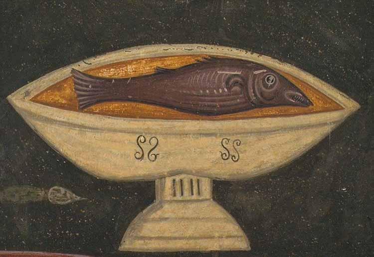 Taja-vecera-detalj-Bogorodica-Ljeviska-14.-vek