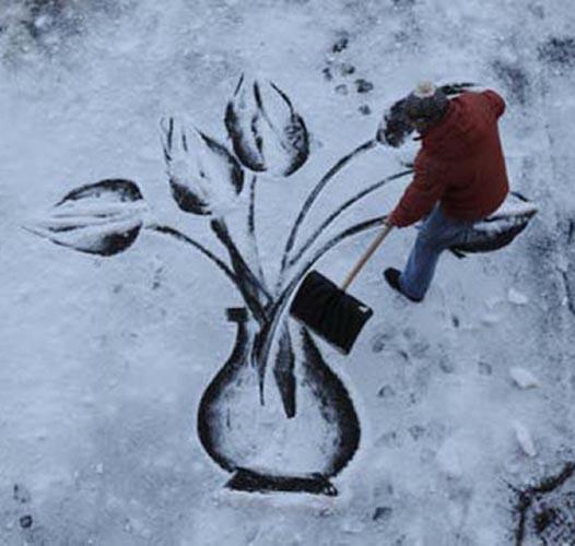 Како је чистач школско двориште претворио у сликарско платно
